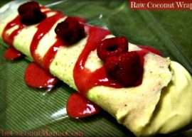 Raw Coconut Wraps from The Coconut Mama