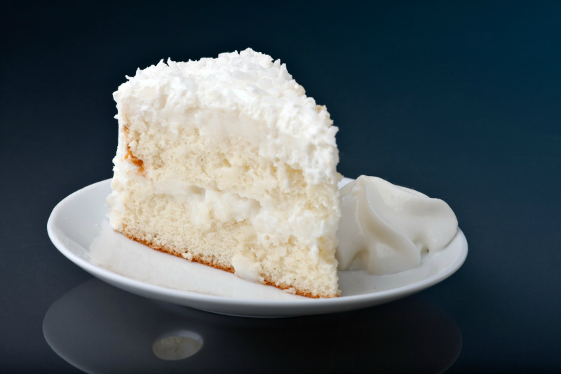 Coconut Sheet Cake With Cream Of Coconut