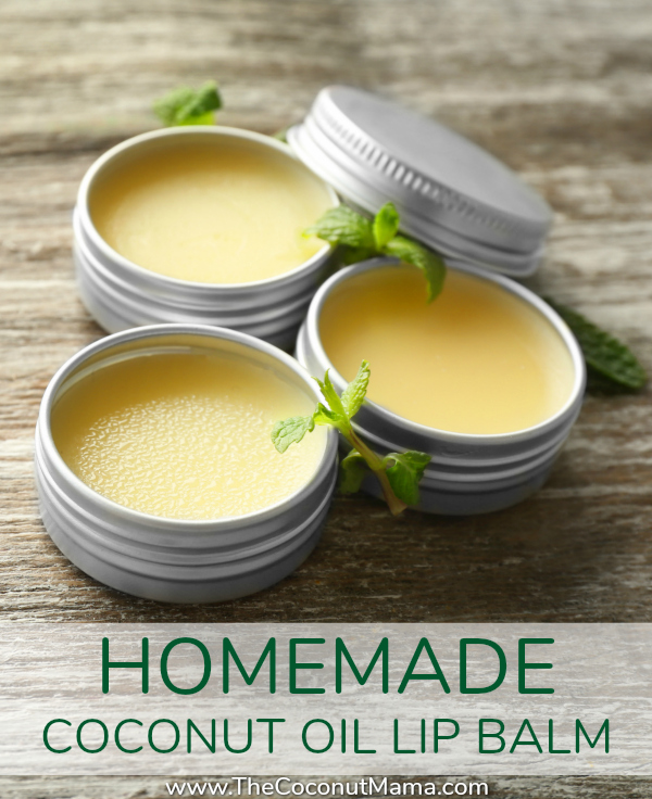 Homemade Coconut Oil Lip Balm