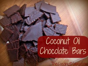 Chocolate Coconut Oil Bars