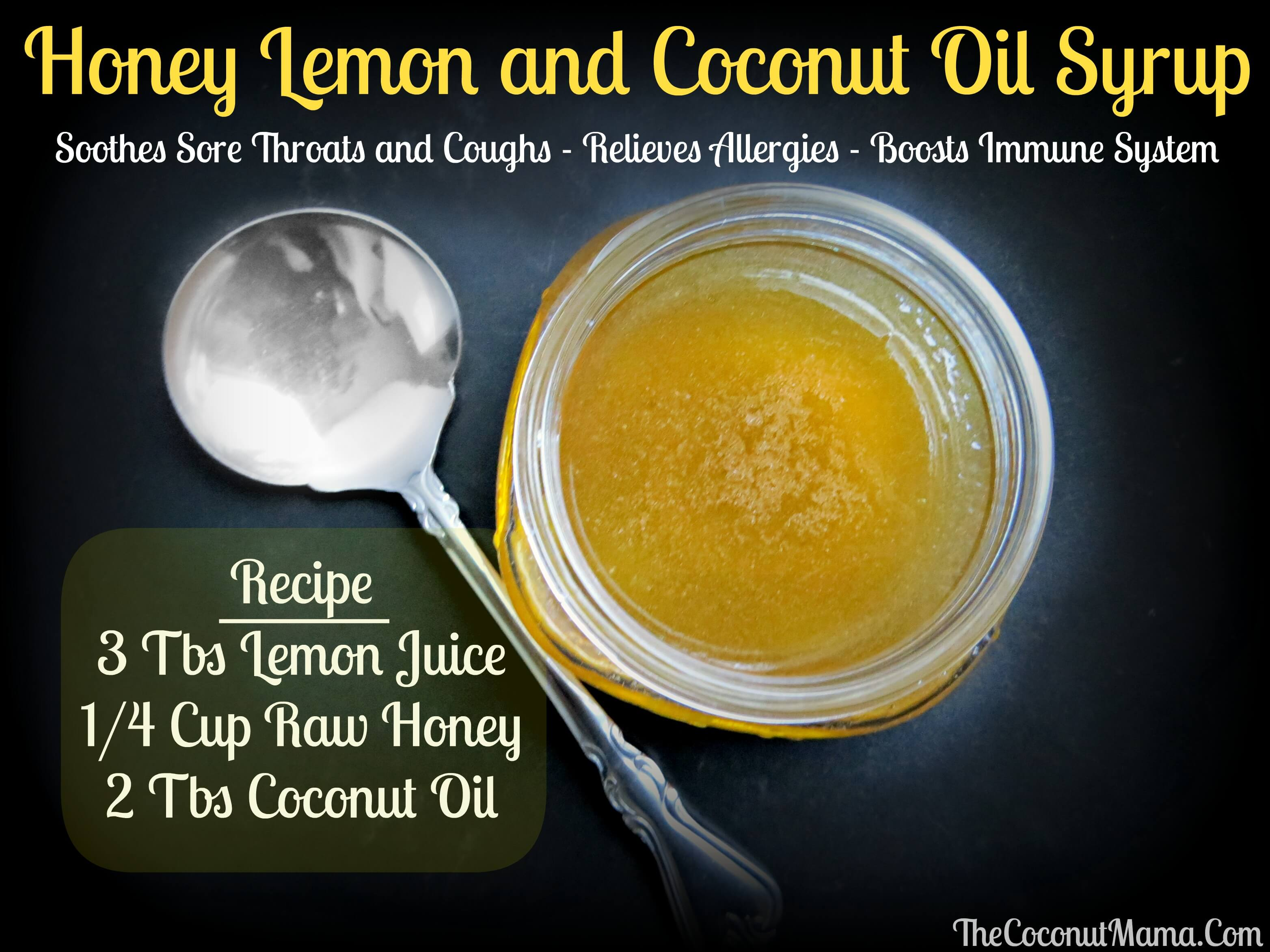 Honey And Lemon Cough Syrup With Coconut Oil All About