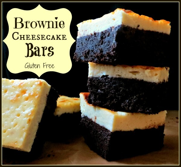 Brownie Cheesecake Bars - Gluten Free