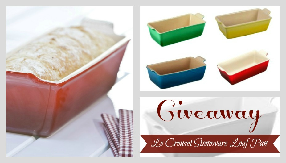 Giveaway: Le Creuset Heritage Stoneware 1 1/2qt Loaf Pan ~ $29.95 Value