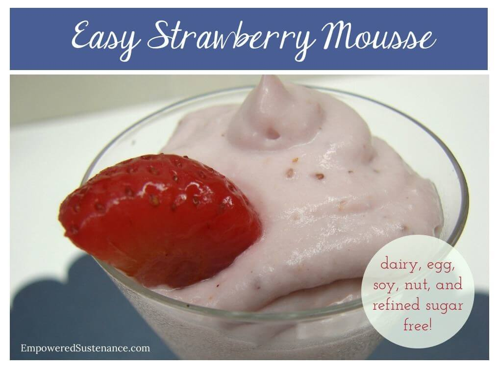 Healthy and Easy Strawberry Mousse