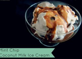 Mint Chocolate Chip Ice Cream (Dairy Free) from The Coconut Mama