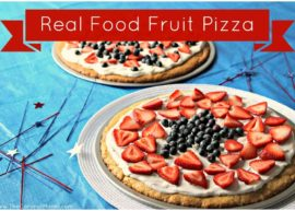 Real Food Fruit Pizza from The Coconut Mama (Gluten free and Dairy free optional)