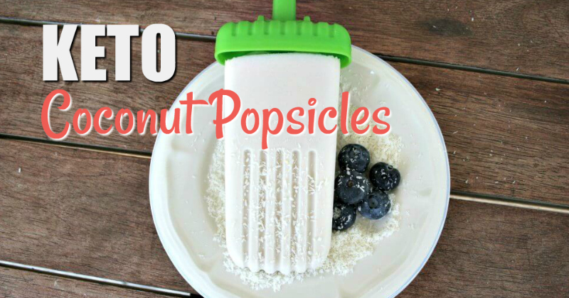 coconut popsicles with blue berries
