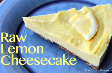 Healthy Raw Lemon Cheesecake from The Coconut Mama