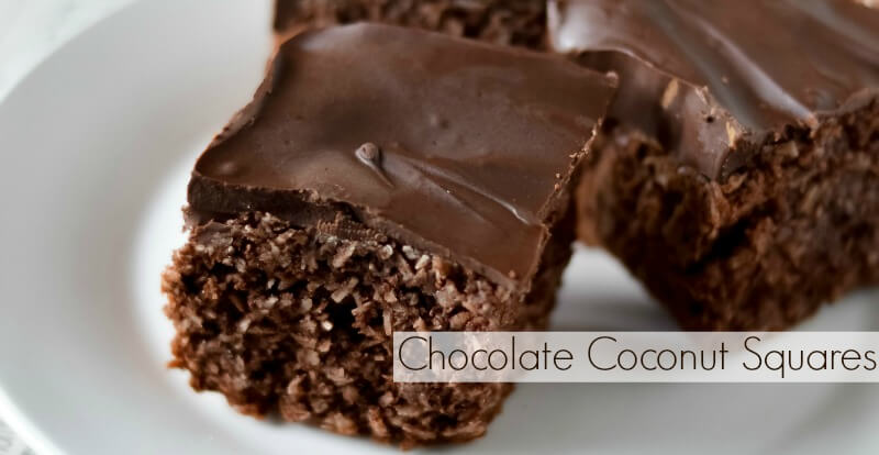 Chocolate Coconut Squares – The Coconut Mama