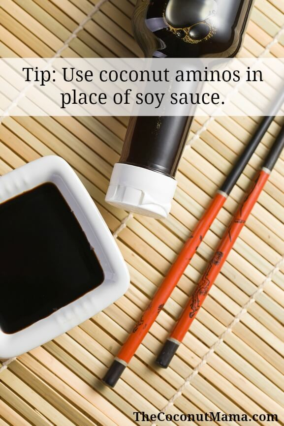 Use Coconut Aminos In Place Of Soy Sauce