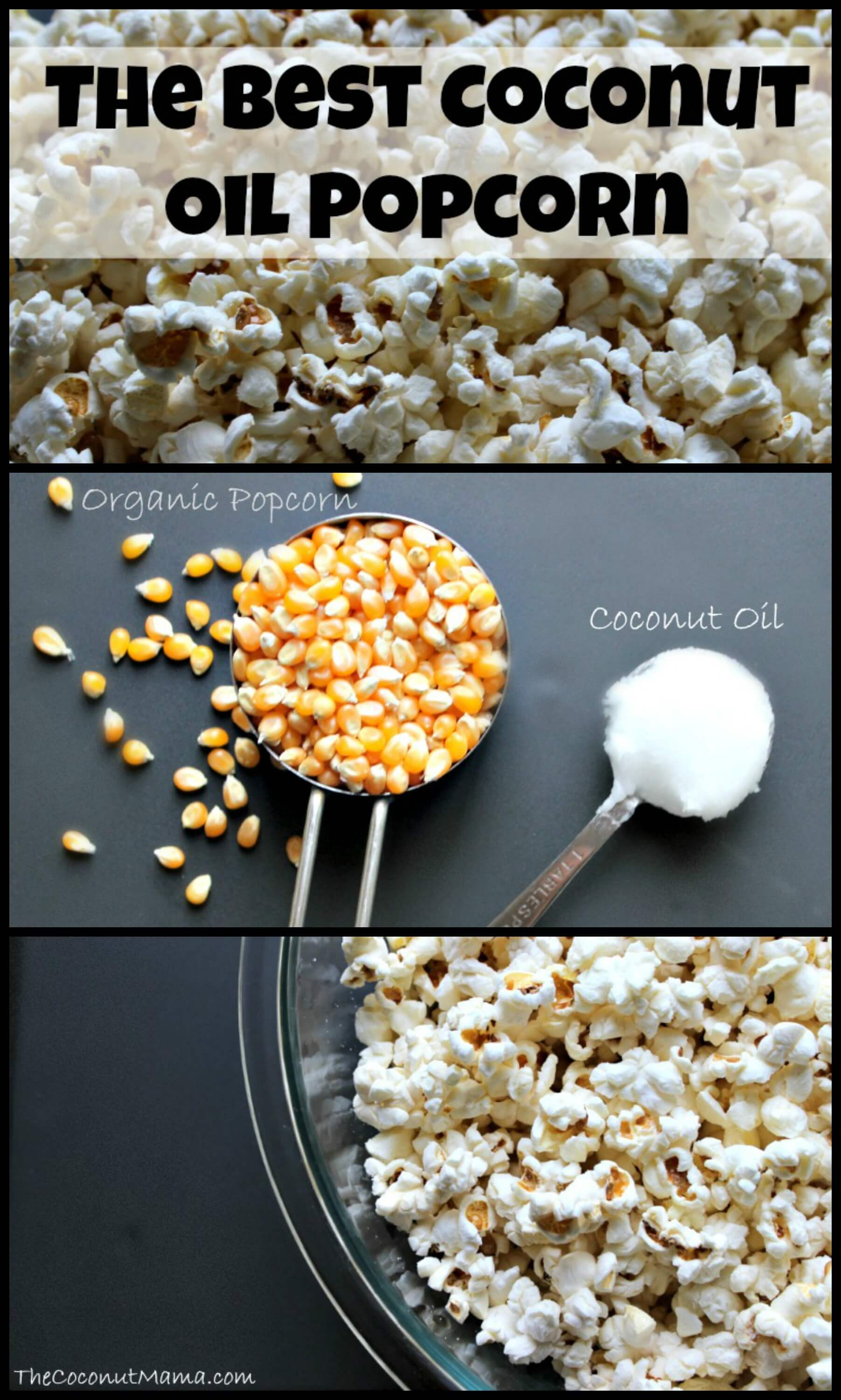 The BEST Coconut Oil Popcorn