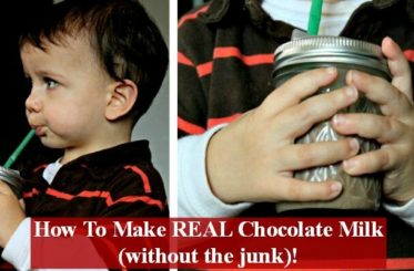 How To Make REAL Chocolate Milk (without the junk!) from The Coconut Mama