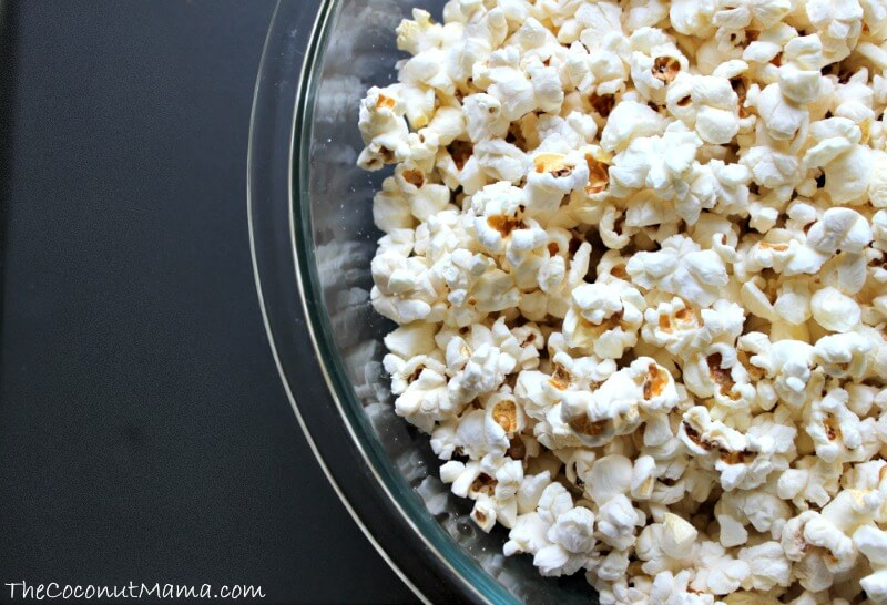 Coconut Oil Popcorn in bowl
