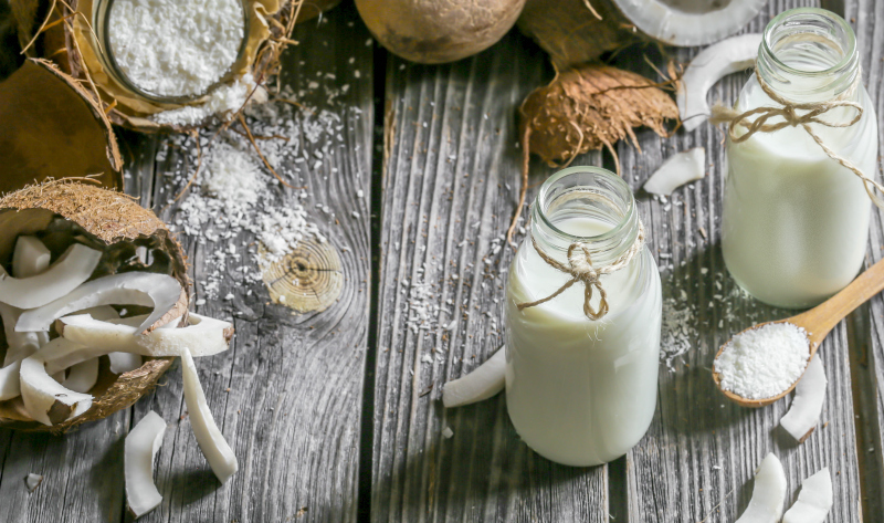 Homemade Coconut Milk (and how to make coconut flour from the pulp)