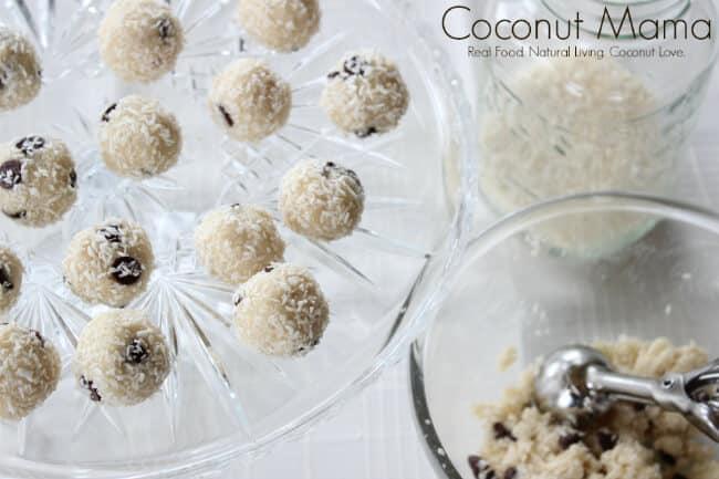 Coconut Cookie Dough Bites