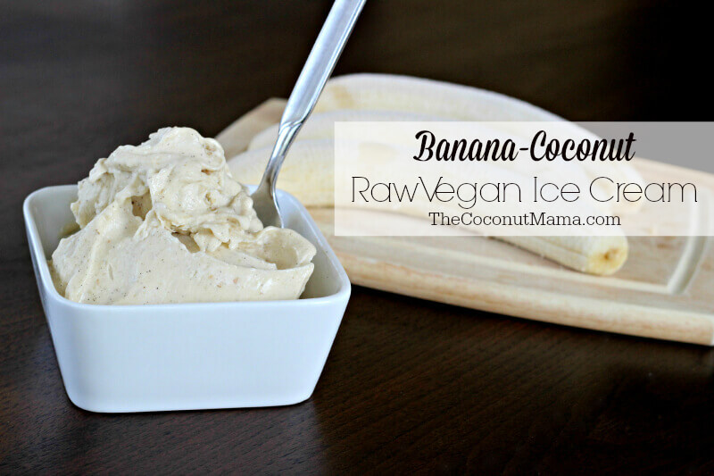 Banana-Coconut Raw Vegan Ice Cream - The Coconut Mama