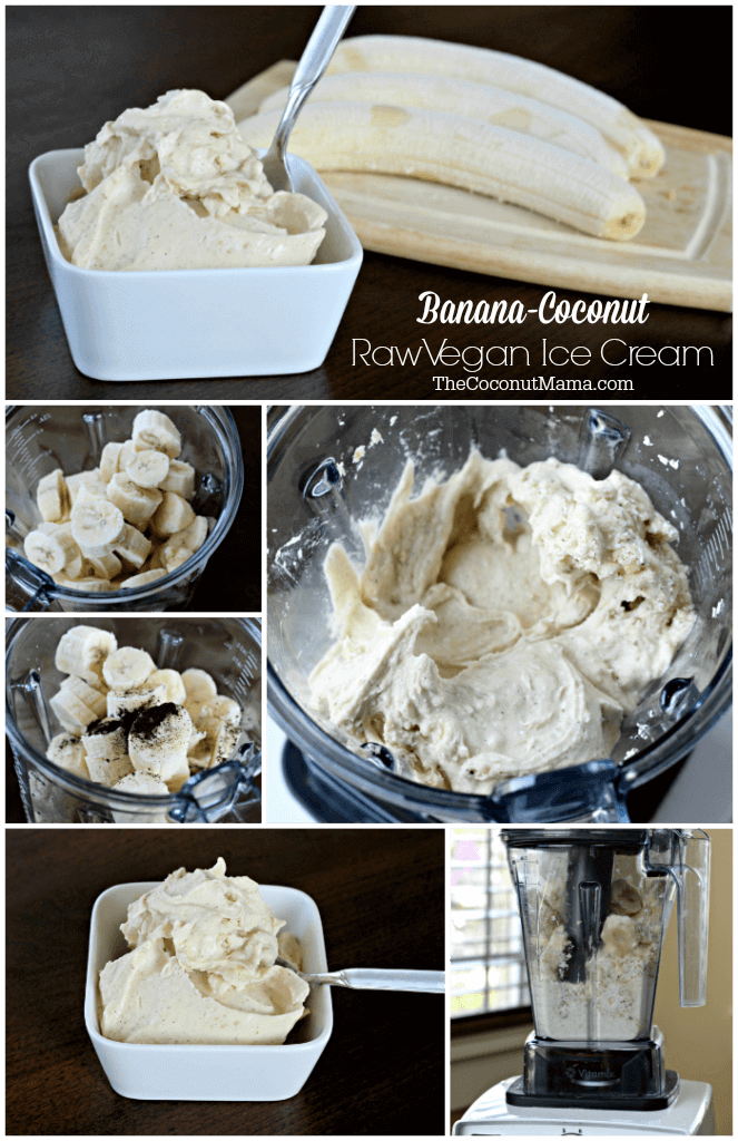 Banana-Coconut Raw Vegan Ice Cream