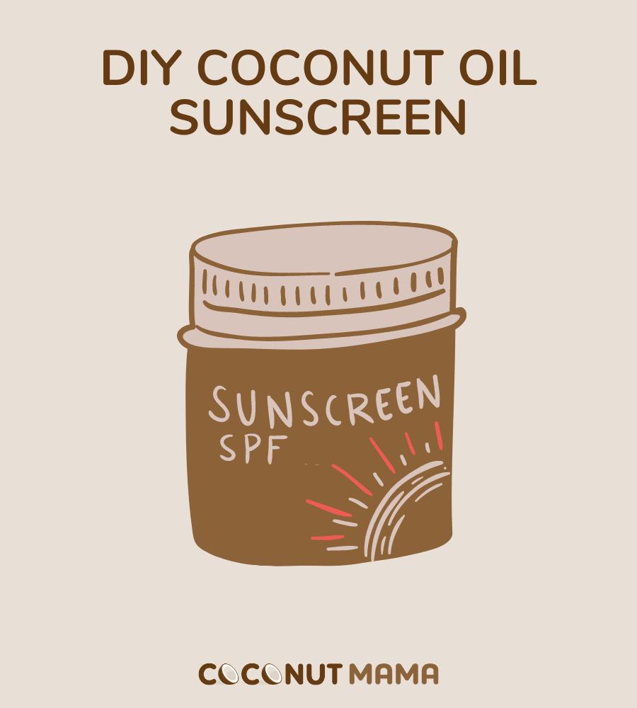 jar of coconut oil sunscreen