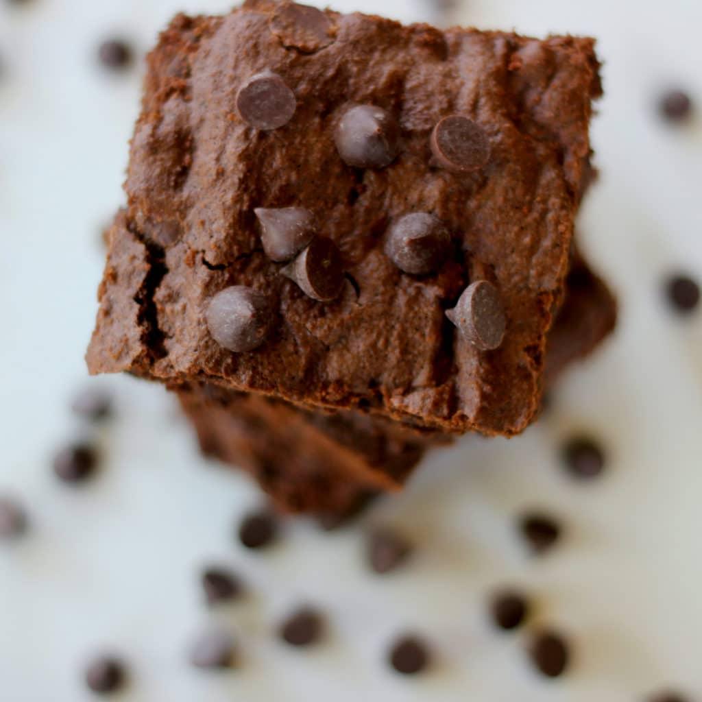 Double Chocolate Coconut Flour Brownies