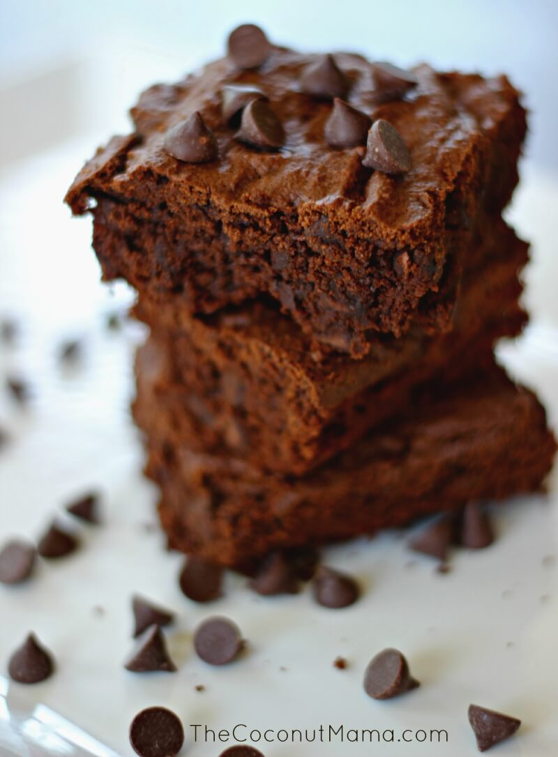 Double Chocolate Coconut Flour Brownies