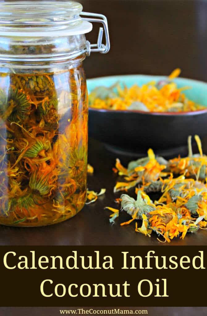 How To Make Calendula Infused Coconut Oil