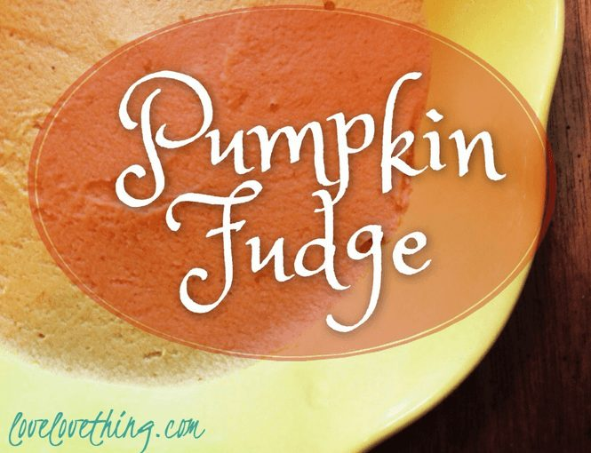 Dairy Free Egg Free Pumpkin Fudge
