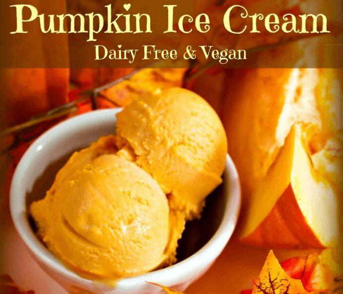 Pumpkin Ice Cream Dairy Free