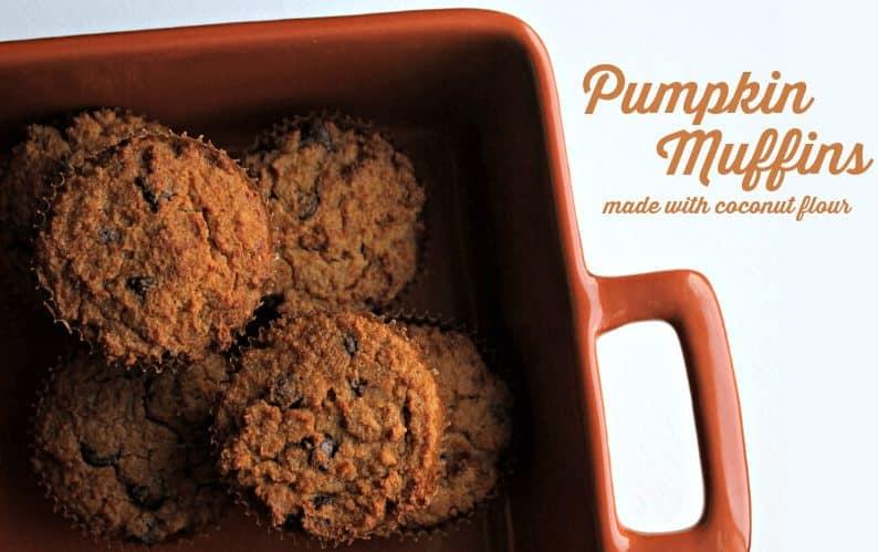 Pumpkin Muffins with coconut flour