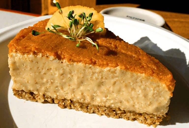 Raw Pumpkin Cheesecake