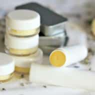 Homemade Lip Balm with Coconut Oil, Lavender & Honey