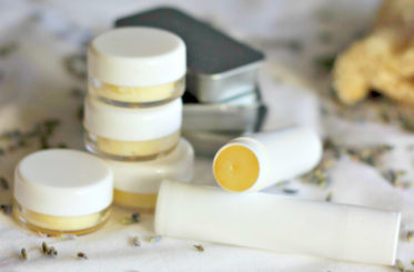 Homemade Lip Balm with Coconut Oil, Lavender & Honey