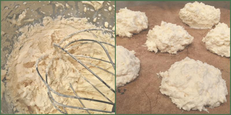 batter of coconut flour biscuits