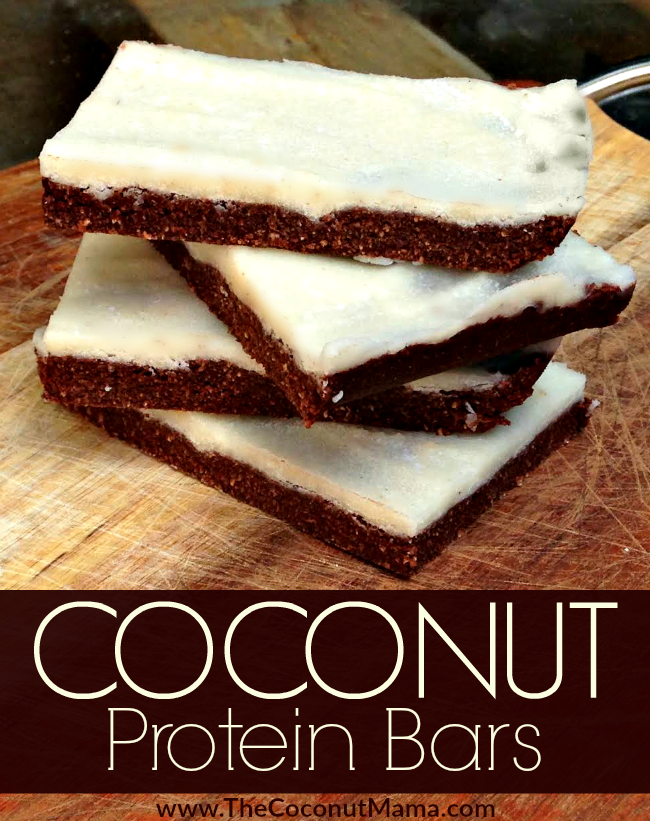 These coconut protein bars are filled with healthy fats, easy to digest fiber and gut-healing <a href=