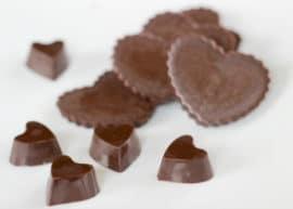 Coconut Oil Chocolate Hearts