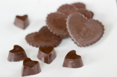 Coconut Oil Chocolate Hearts