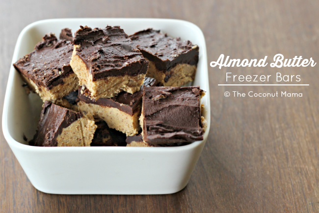 Almond Butter Freezer Bars (Sugar Free)