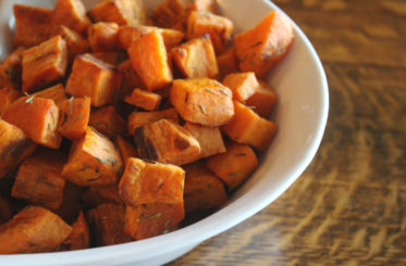 Roasted Sweet Potatoes In Coconut Oil