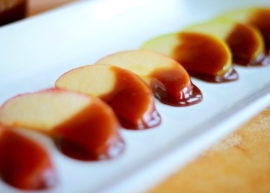 apples with dairy free caramel dipping sauce