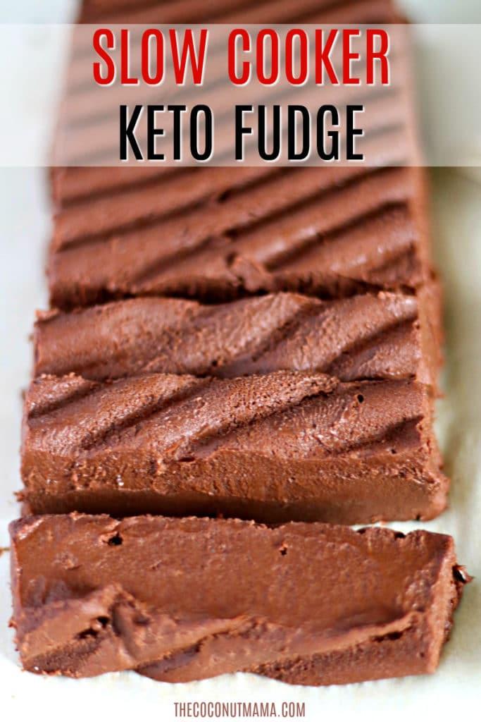 plate of keto fudge