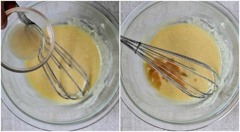 add apple cider vinegar to batter