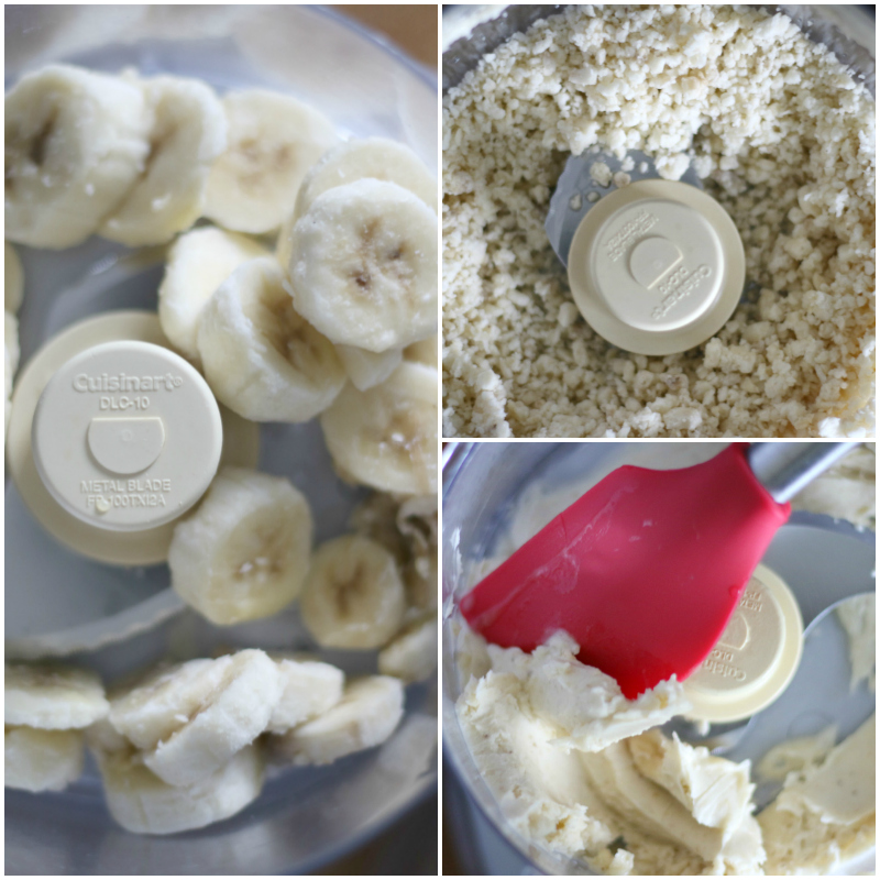 banana ice cream in food processor