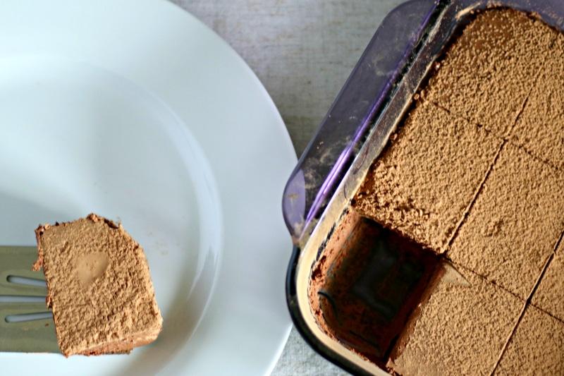 pan of chocolate gelatin bars