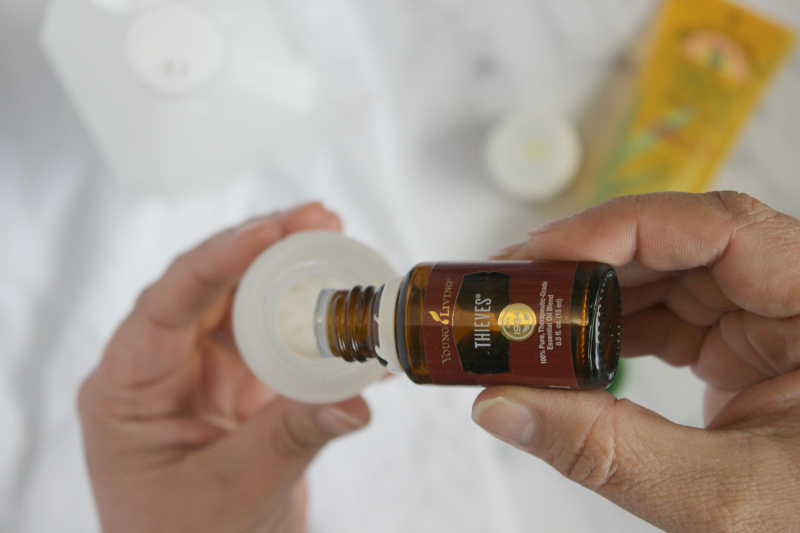 essential oils drops in a container