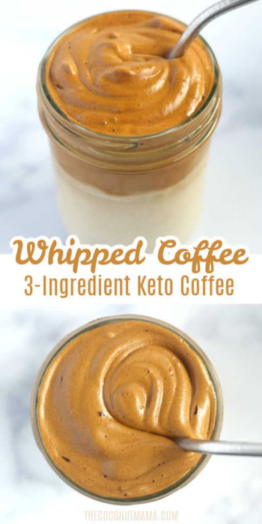 Whipped Coffee (Easy 3-Ingredient Keto Recipe)