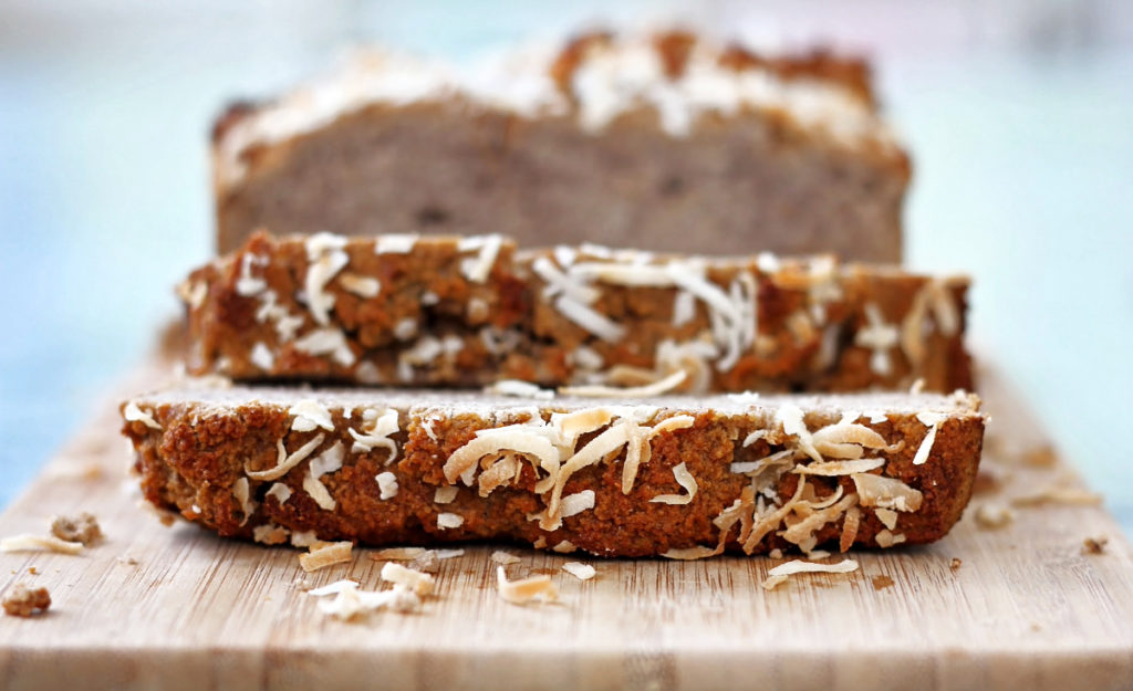 This coconut flour banana bread is not only gluten-free, but it's grain-free, and dairy-free too! Made with coconut flour and honey, this bread is wholesome and nutritious!