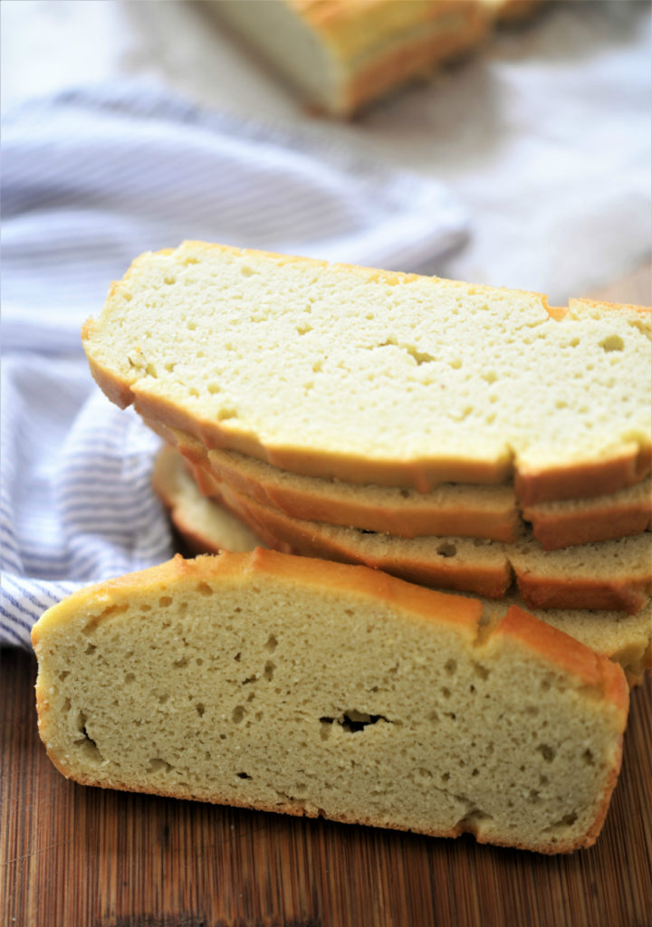 Coconut flour bread is one of the easiest recipes to start with when you start baking with coconut flour! This recipe makes one loaf of bread. You can easily double or triple this recipe and freeze extra loaves.