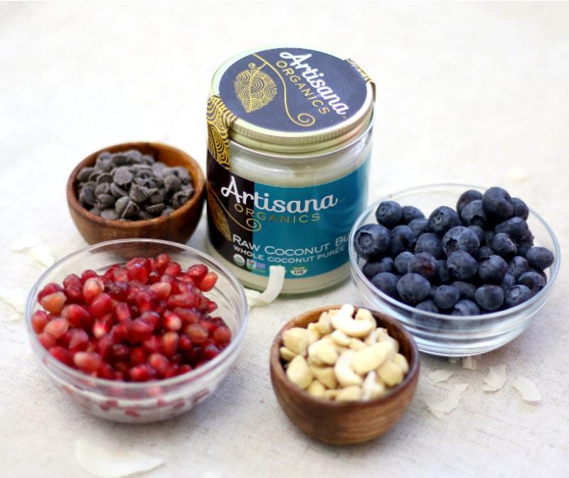ingredients for coconut bark
