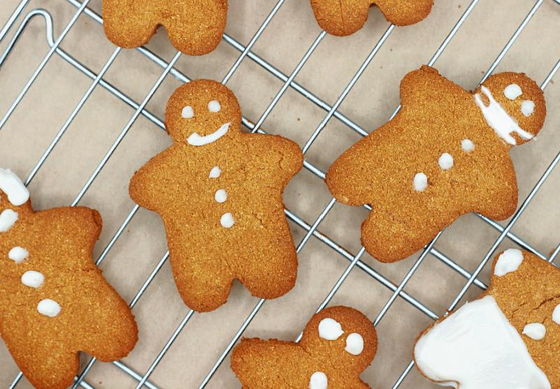 Coconut Flour Gingerbread Cookies