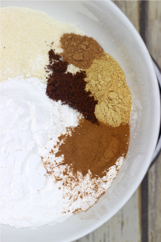 flour and spices in a bowl