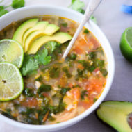 Chicken Cilantro Lime and Cauliflower Rice Soup